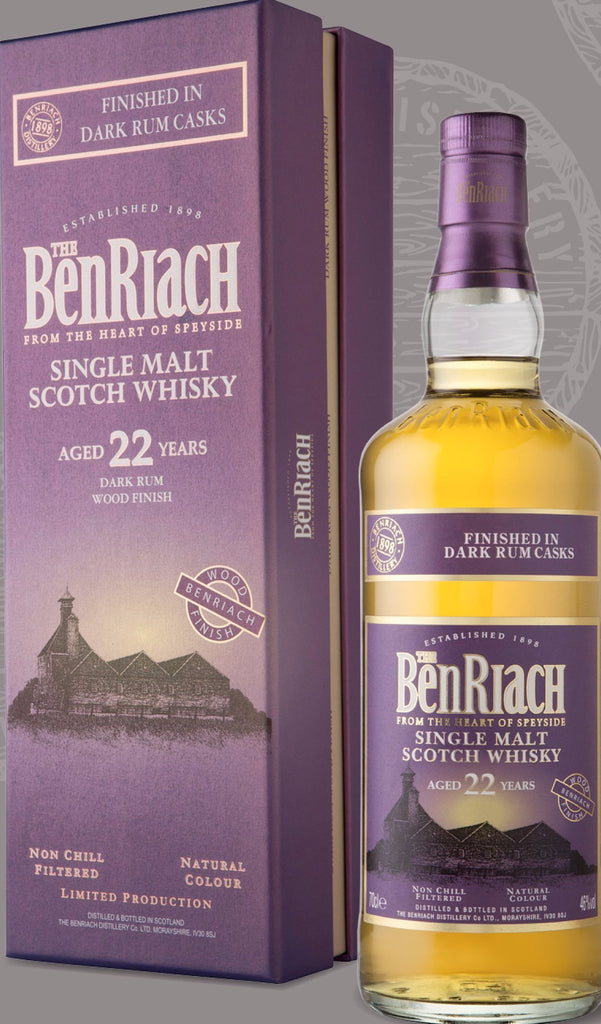 BenRiach Dark Rum Cask Finish 22 Year Old 46% 70cl