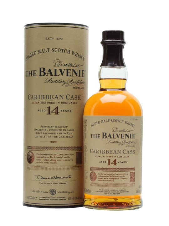 Balvenie 14 Year Old Caribbean Cask | 43% 700ml