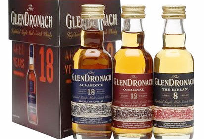 Glendronach Miniature Gift Pack (8,12,18yrs) 3x5cl  Whisky