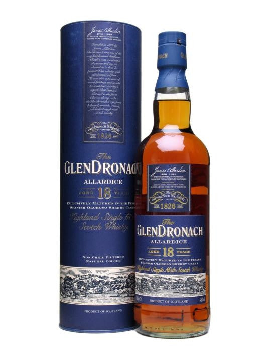 Glendronach 18 Year Old Allardice | 46% 700ml  Whisky