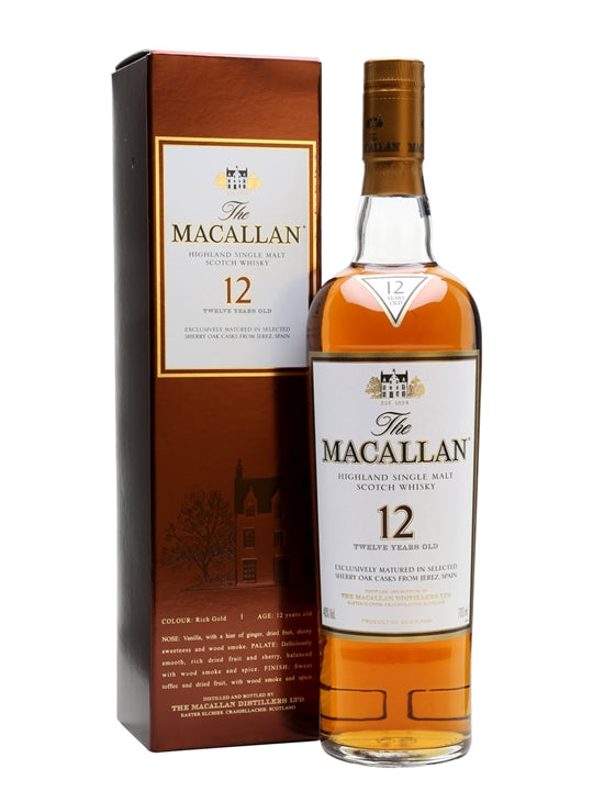 Macallan 12 Year Old Sherry Oak | 40% 700ml