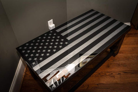 American Flag Tactical Coffee Table