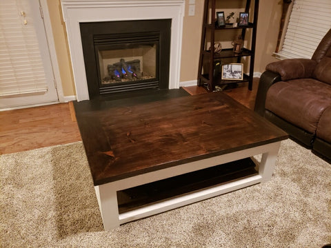 Rustic Coffee Table - Mirage Tactical Furniture