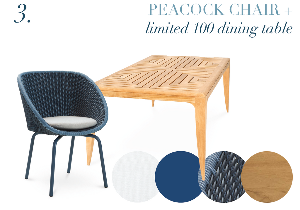 Cane-Line Peacock Outdoor Dining Chair Oasiq Limited 100 Dining Table