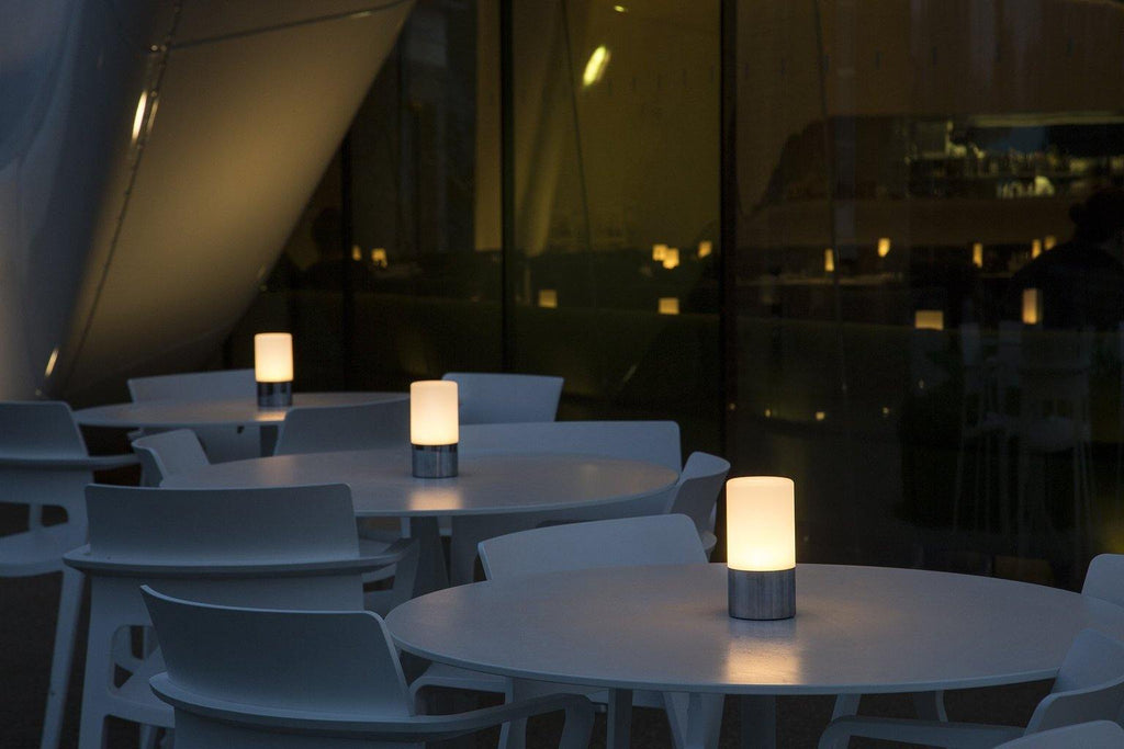 lifestyle, Voltra Lighting | Frosted Table Light | 80mm Rechargeable | Table Top Lighting