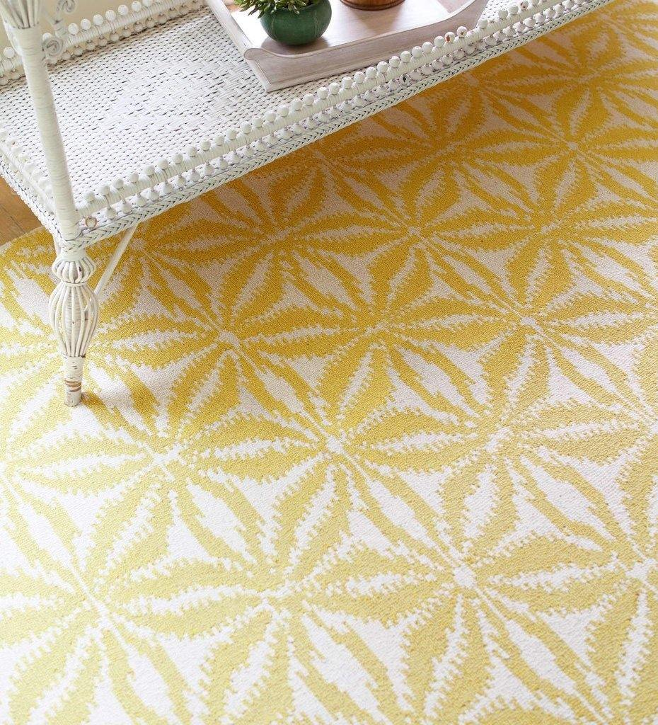 lifestyle, Dash and Albert Aster Gold Micro Hooked Wool Rug