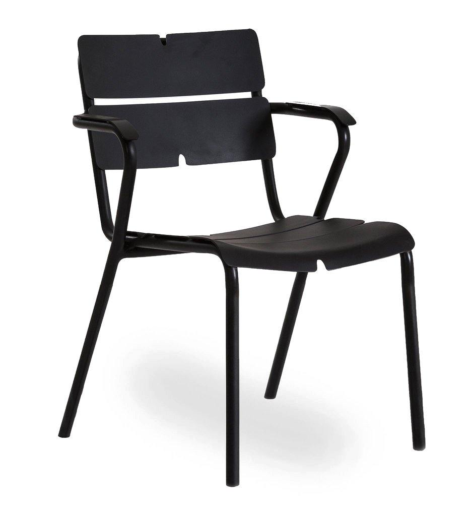Oasiq | Corail Arm Chair - 4 Leg | Anthracite Black Aluminum | Outdoor