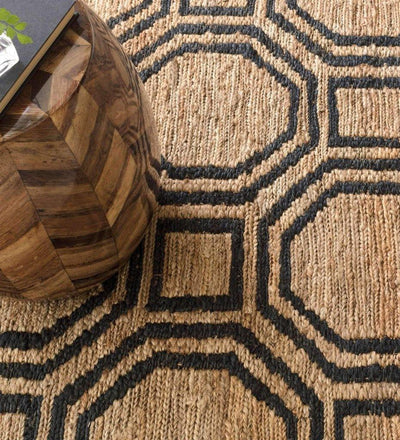 lifestyle, Dash and Albert Hexile Hand Knotted Jute Rug