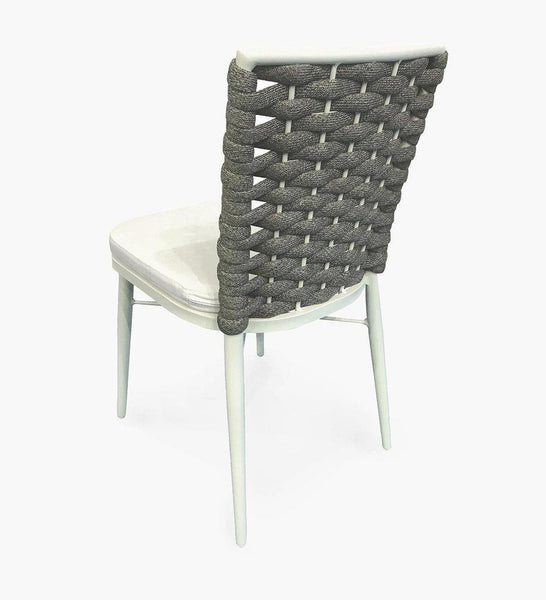 Almeco | Jersey Side Chair | Outdoor Rope Dining