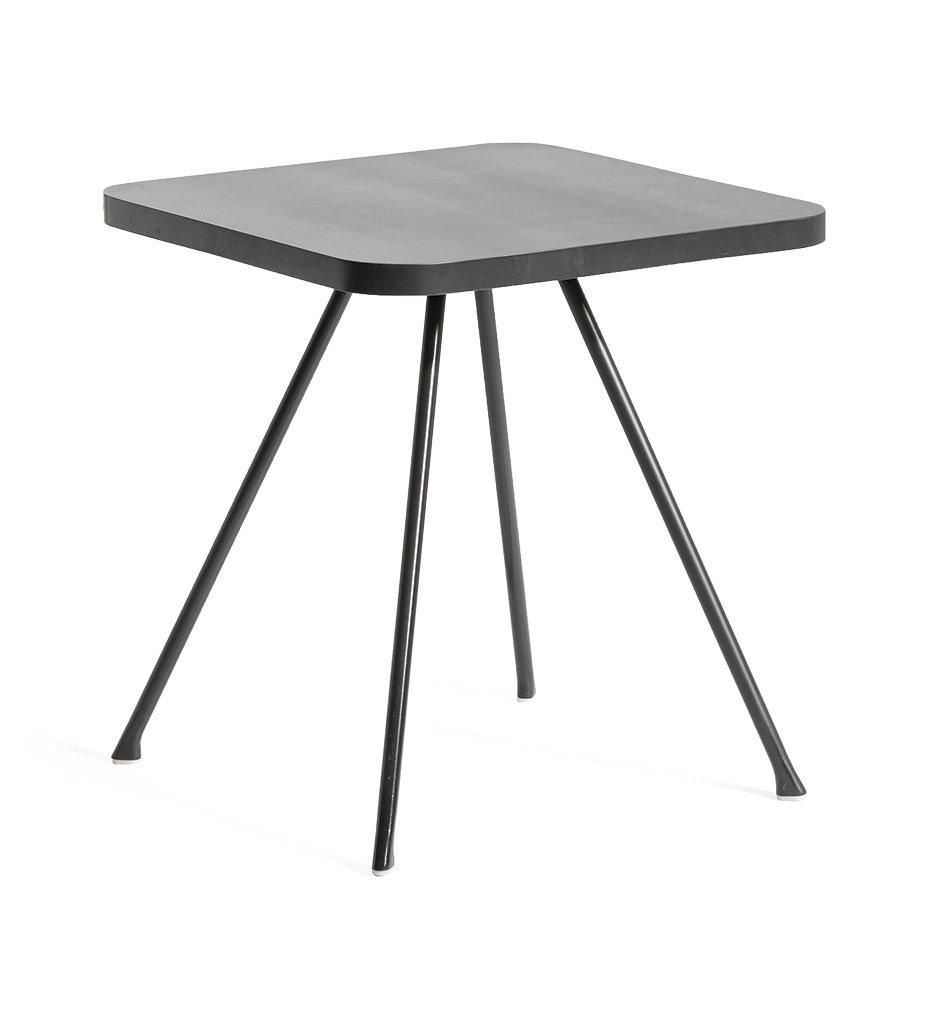 Oasiq Attol Square Side Table Tall Outdoor Anthracite Powder Coated Aluminum Frame