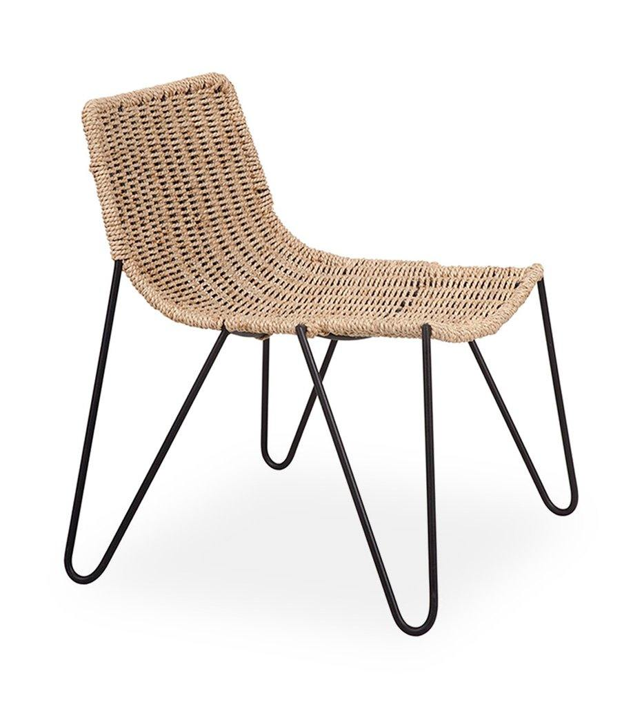 Almeco Abatina Lounge Chair Indoor Natural Twist Cord