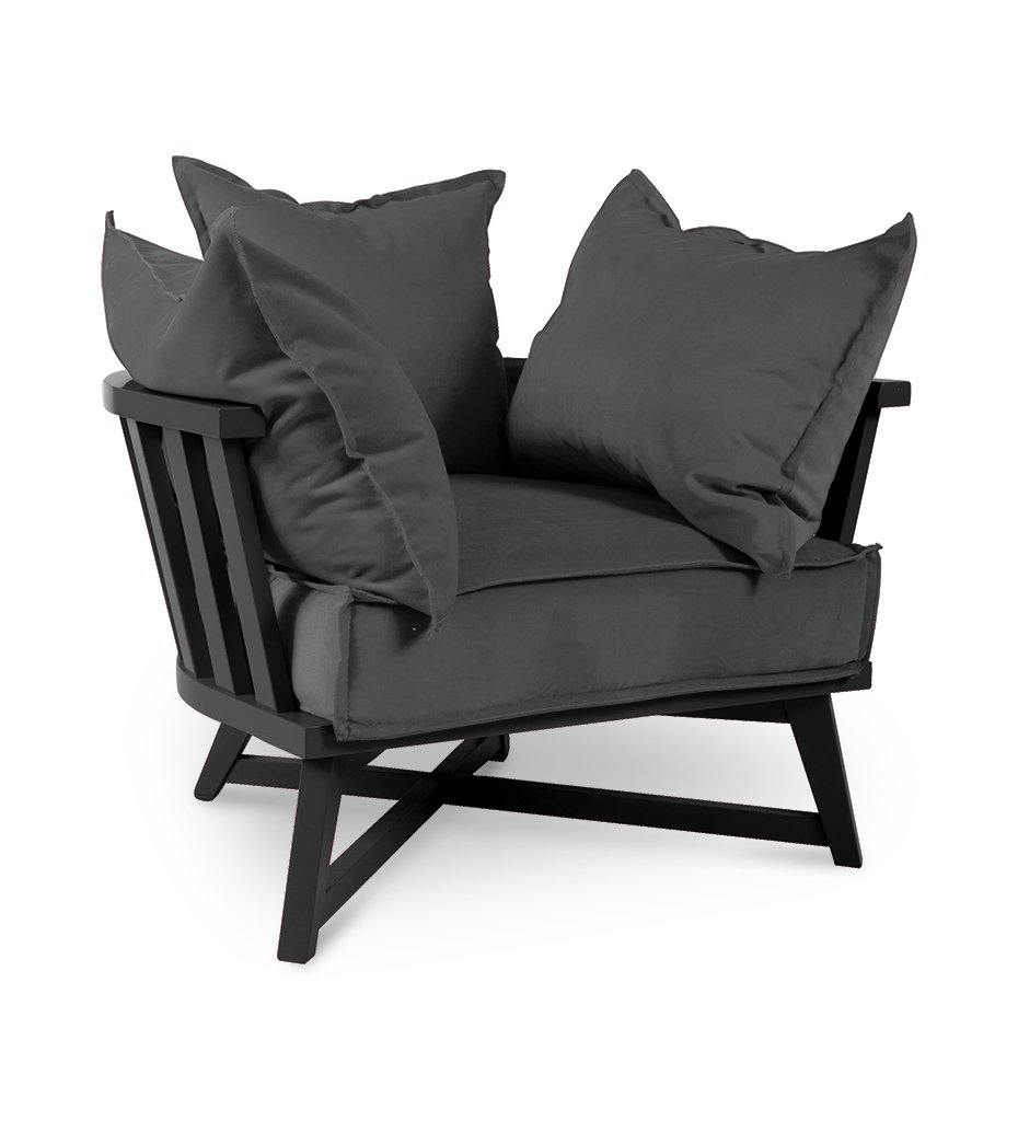 Juniper House-Almeco-Cage Lounge Chair-Beech
