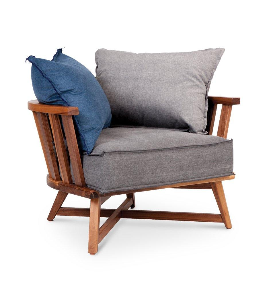 Juniper House-Almeco-Cage Lounge Chair - Teak