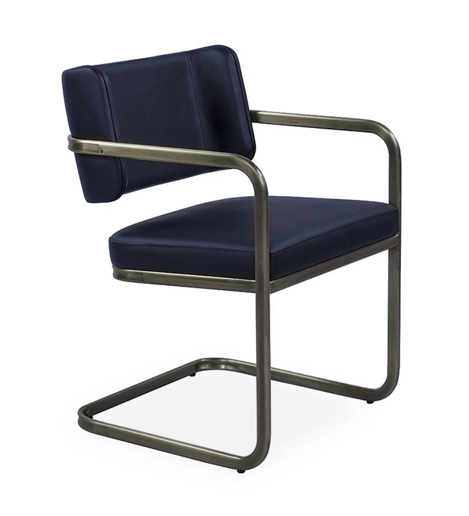 Juniper House-Almeco-Dundee Arm Chair-metallic