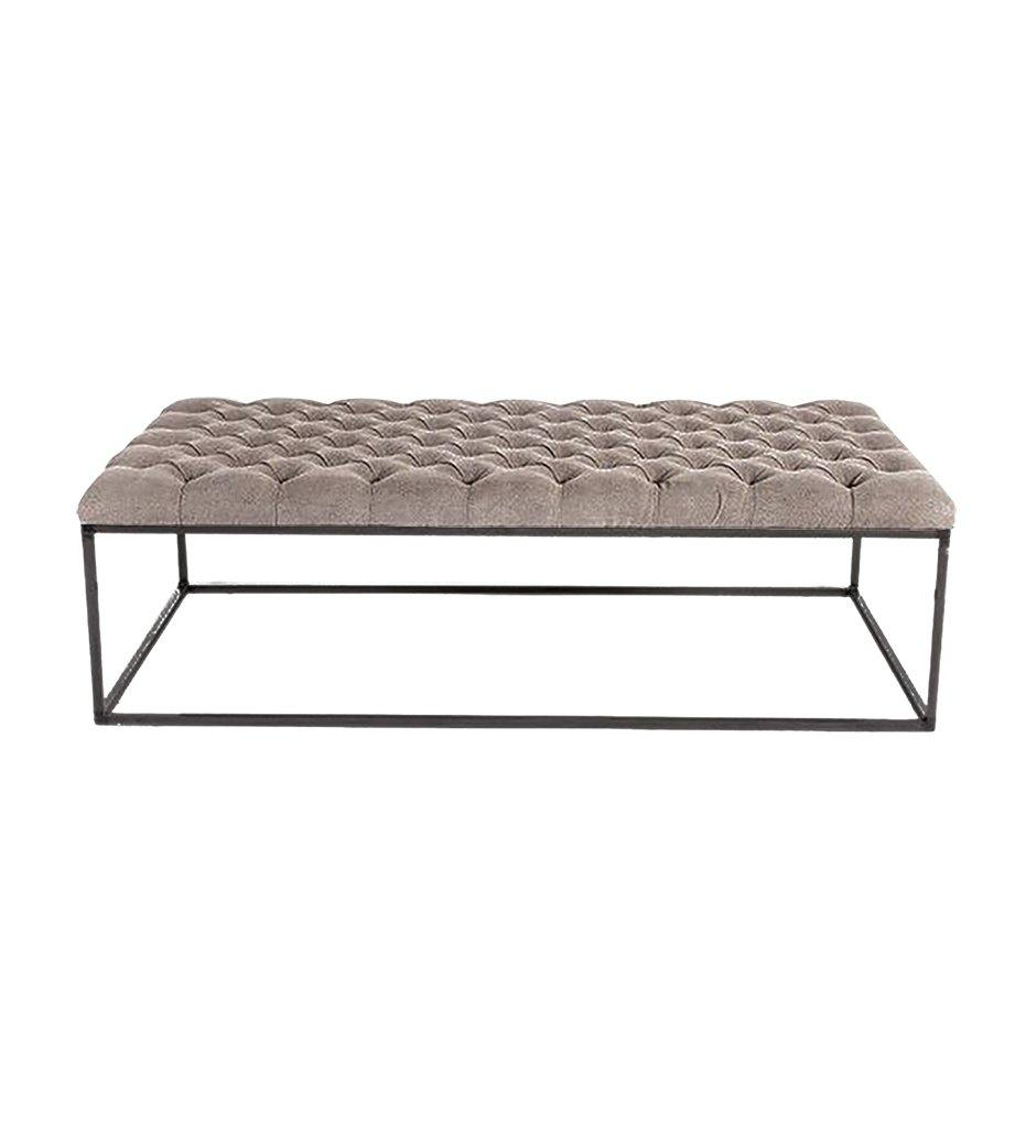 Juniper House-Almeco-Pouf Cube Tabouret-Powder Coated