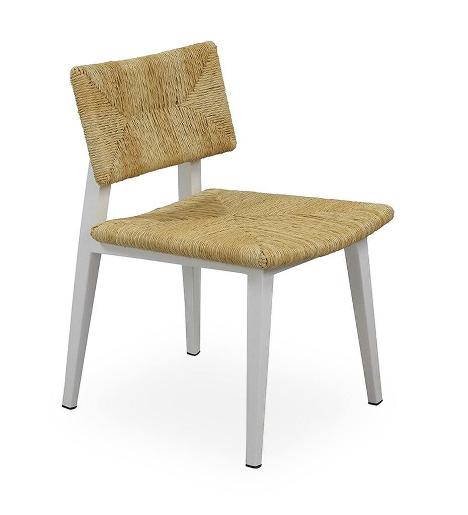 Juniper House-Almeco-Riera Aluminum Chair white Natural