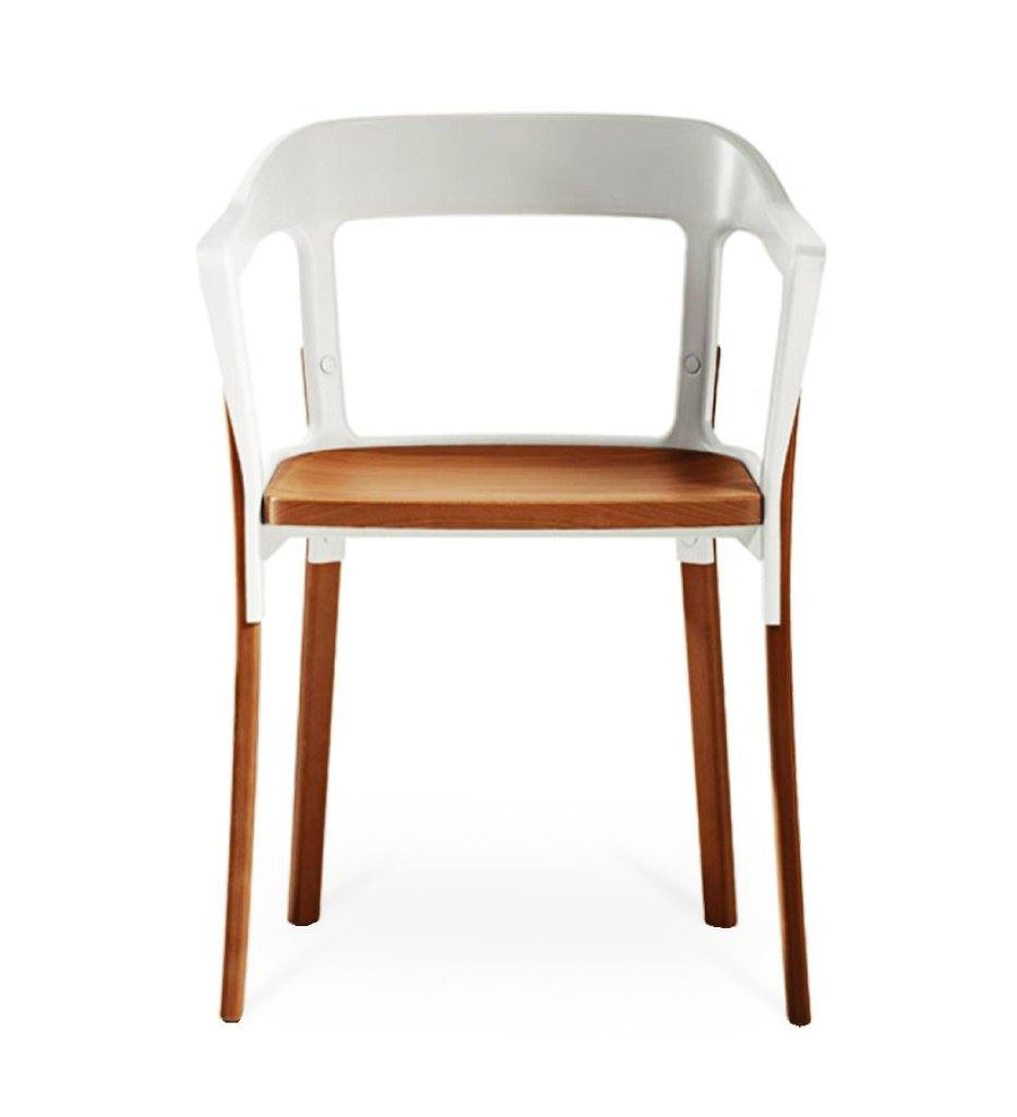 Juniper House-Almeco-Steelwood Chair-white