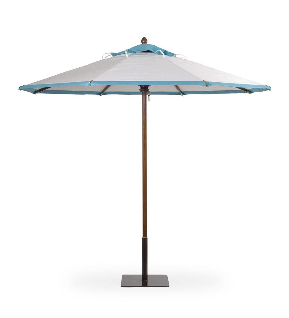 Juniper House-Santa Barbara Designs-SantaBarbara-Hexagonal-Mahogany Pole Umbrella