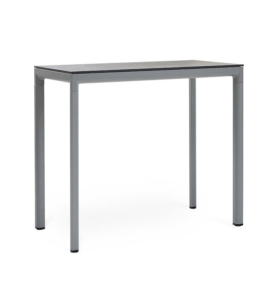 Cane-line Drop Outdoor Bar Table with Light Grey Aluminum Base and Grey Fossil Ceramic Top 50402AI P087COG