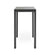 Cane-line Drop Outdoor Bar Table with Lava Grey Aluminum Base and Black Fossil Ceramic Top 50402AL P087COB