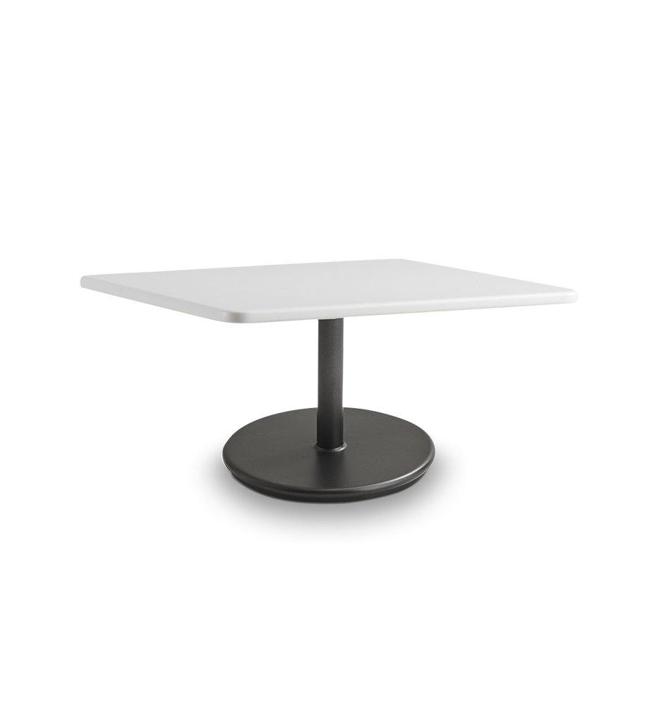 Cane-line Go Small Coffee Table with Lava Grey Base and White Top 5043AL P046AW