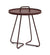 On the Move Outdoor Aluminum Side Table - Small Bordeaux 5065ABR