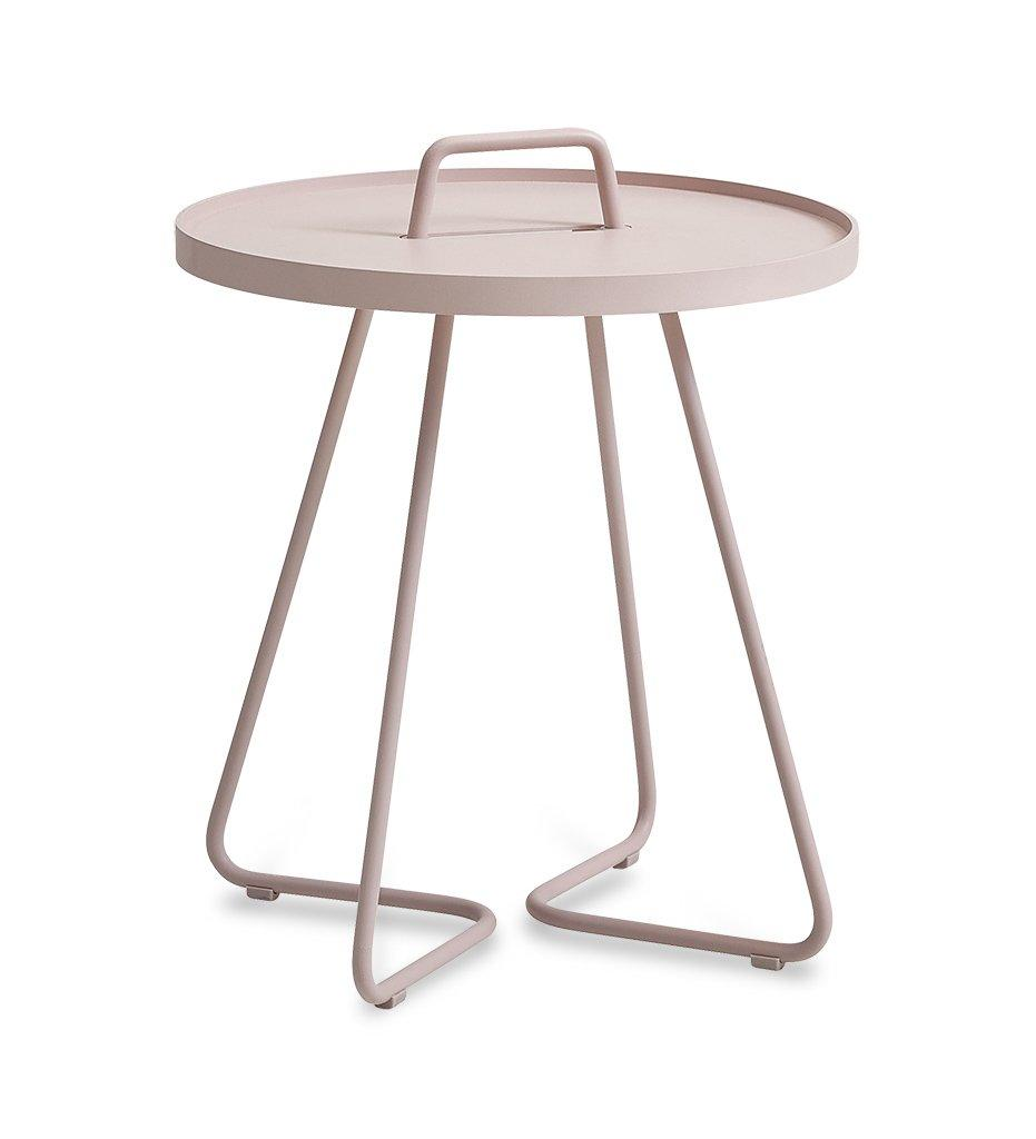 On the Move Outdoor Aluminum Side Table - Small Dusty Rose 5065ADR