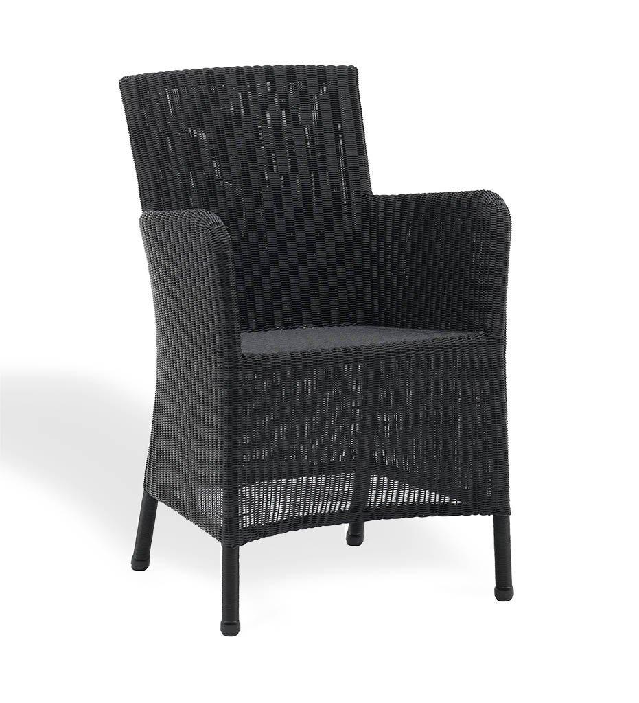Cane-line Hampsted Outdoor Dining Arm Chair Black All Weather Wicker 5430LS