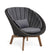 Cane-line Peacock Grey Rope Outdoor Lounge Chair with Teak Legs 5458RODGT with Grey Cushions YSN95