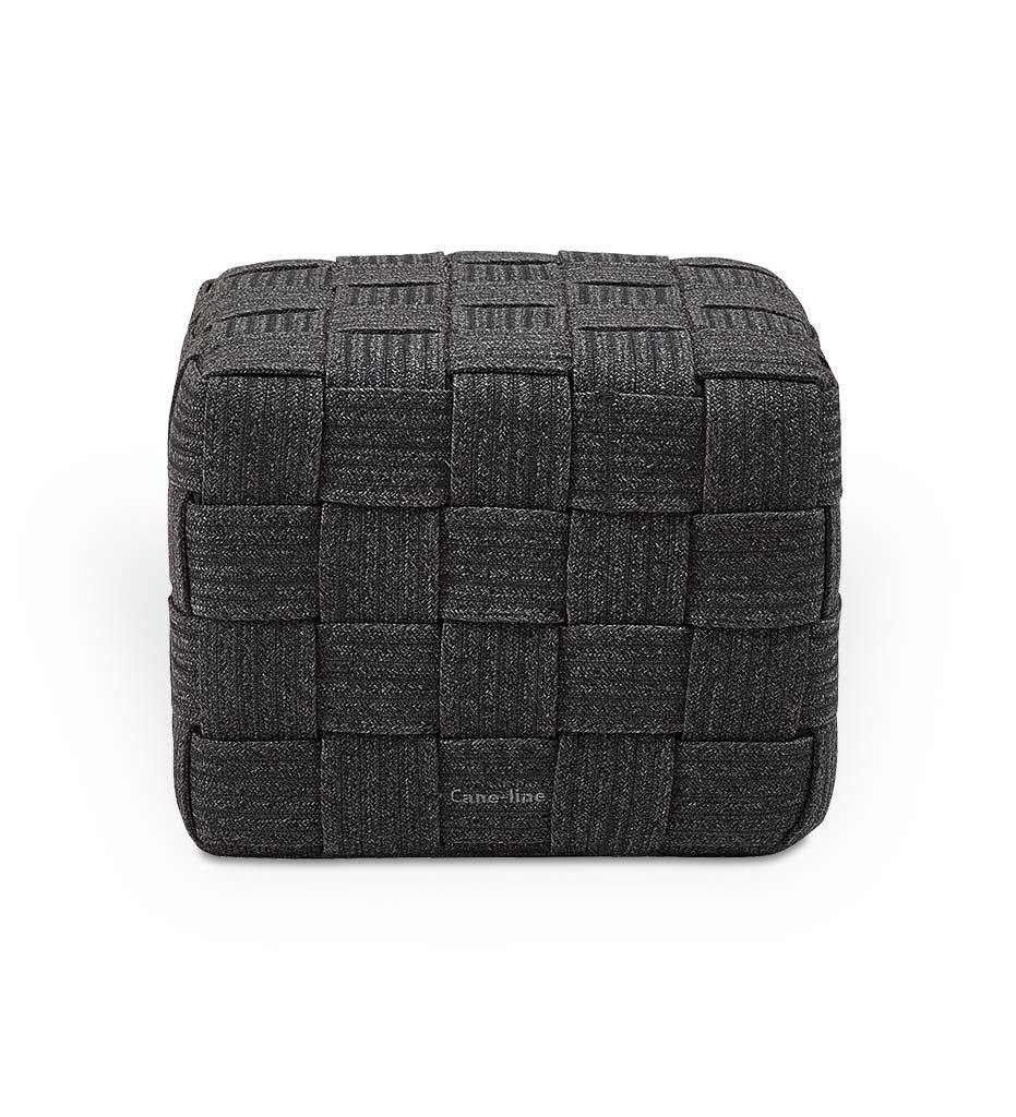 Cane-line Cube Footstool 8340RODG Outdoor Dark Grey Rope Ottoman