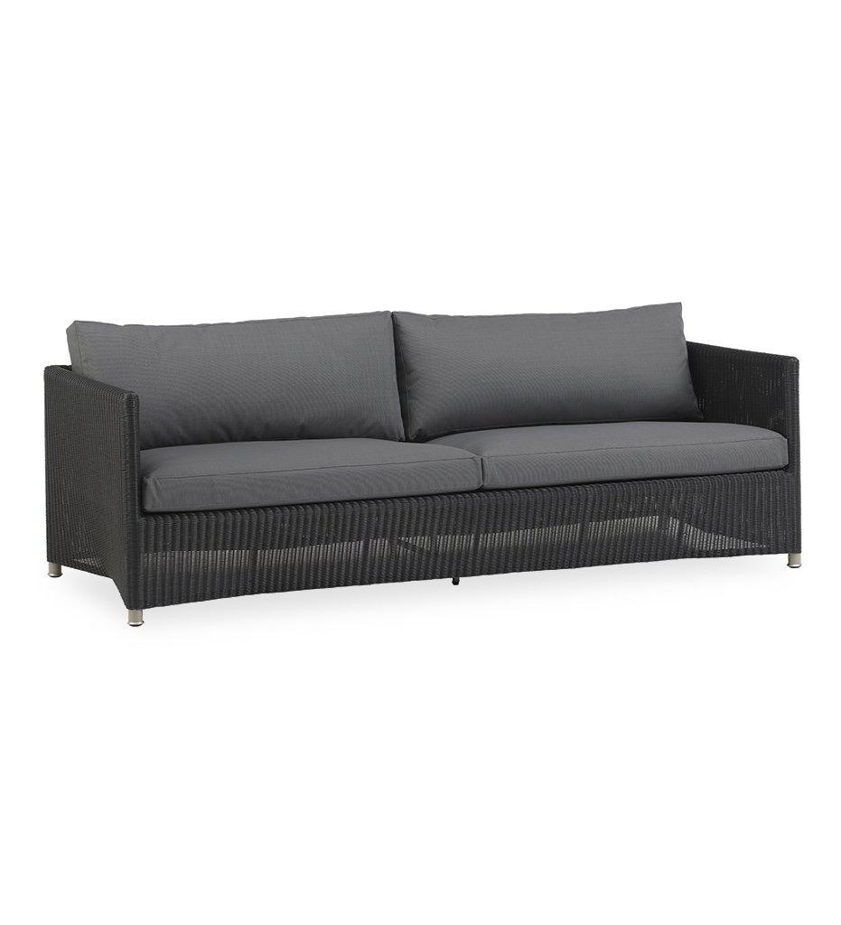 Cane-line Diamond Graphite All Weather Weave 3 Seater Outdoor Sofa 8503LGSG