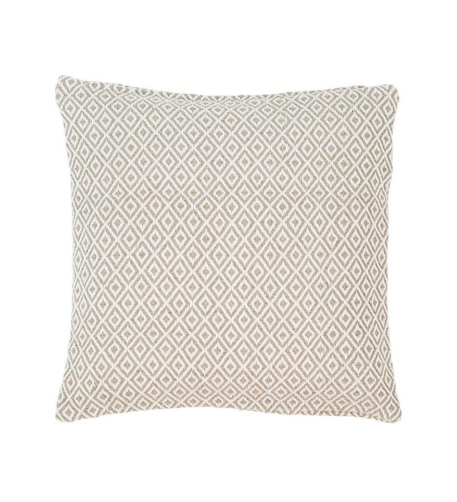 Annie Selke Pine Cone Hill Crystal Platinum White Indoor Outdoor Decorative Pillow