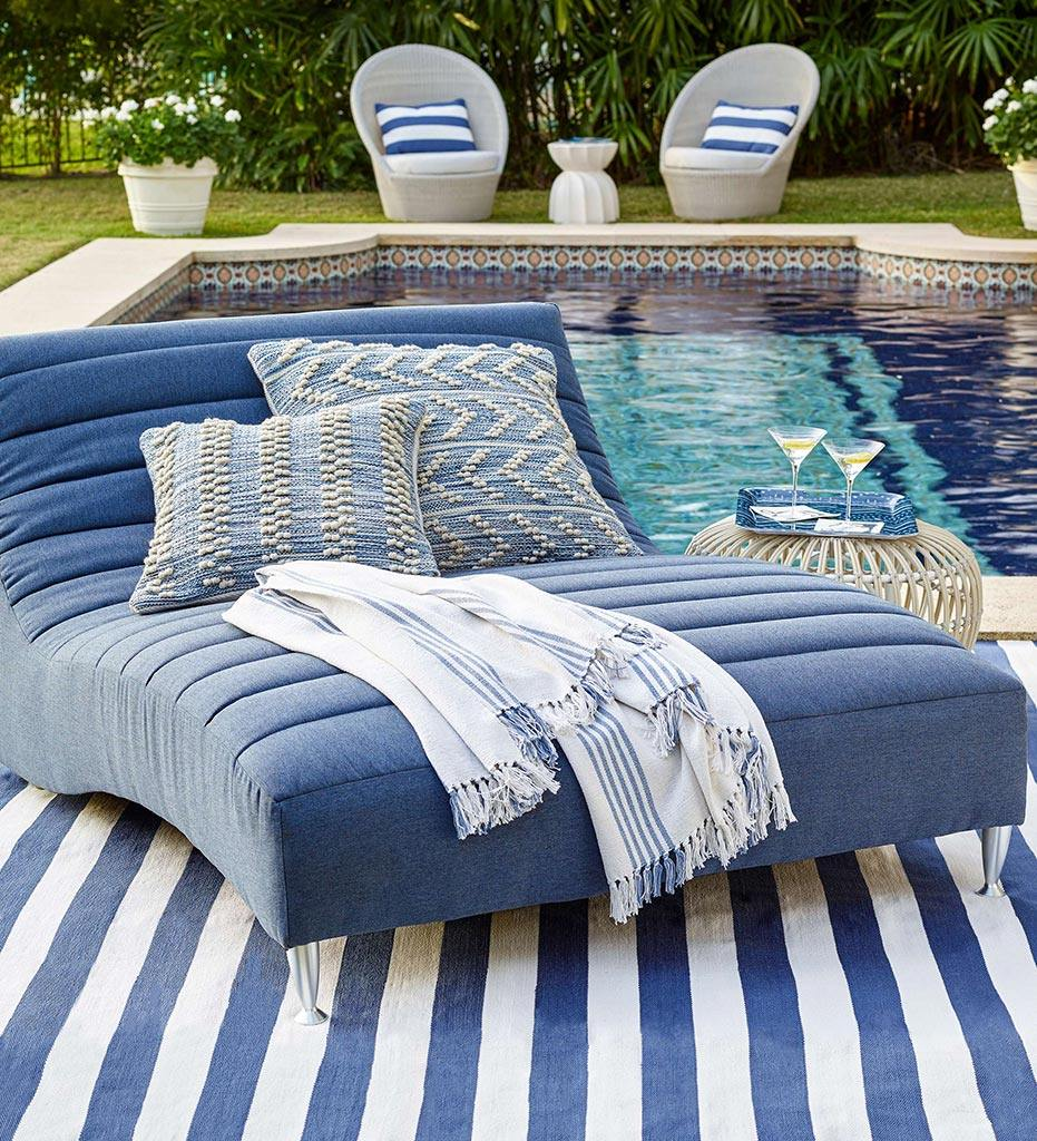 lifestyle, Annie Selke Hobnail Stripe Indoor/Outdoor Decorative Pillow
