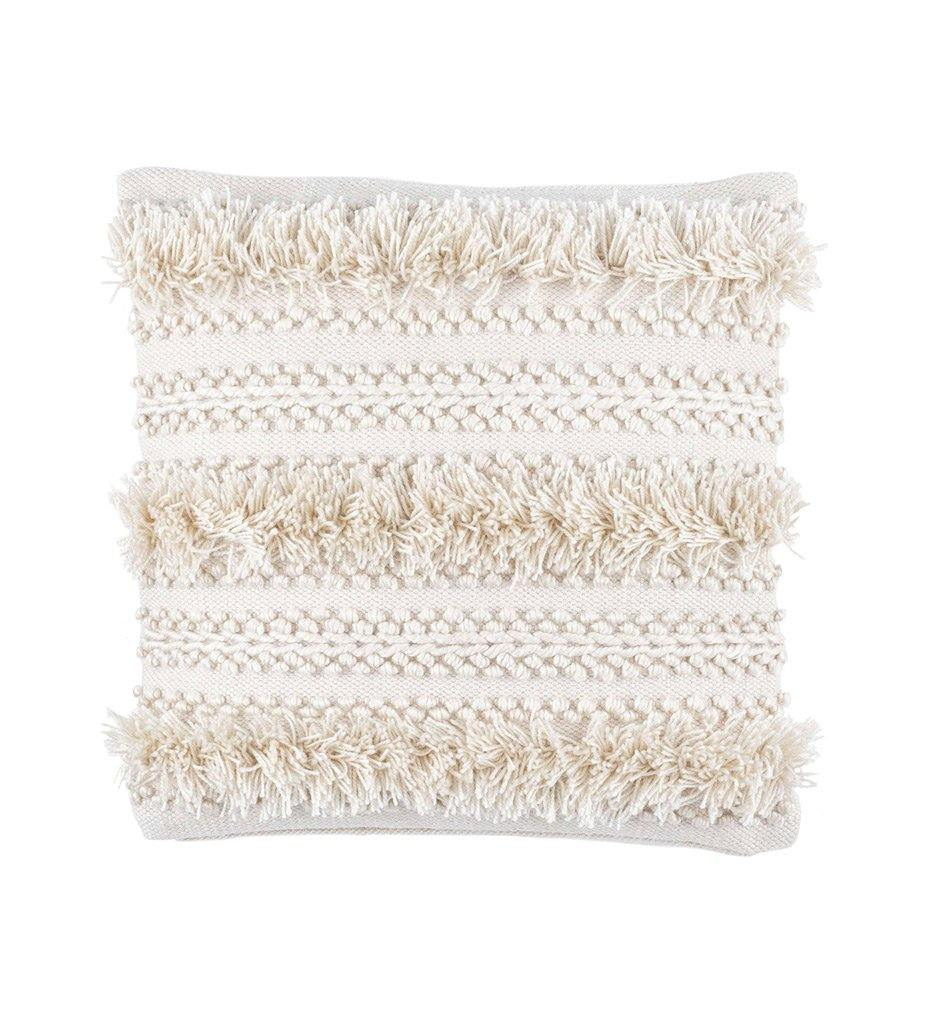 Annie Selke Zhara Ivory Indoor/Outdoor Decorative Pillow