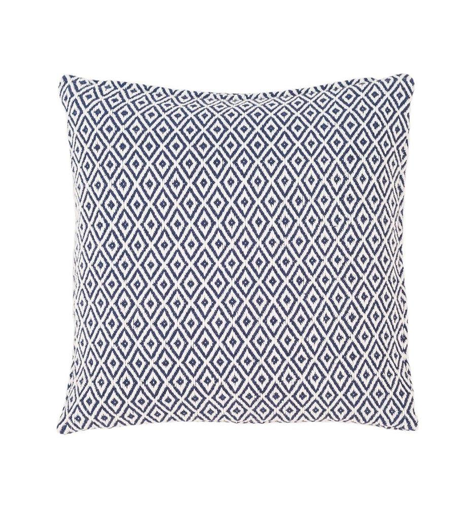 Annie Selke Pine Cone Hill Crystal Navy White Indoor Outdoor Decorative Pillow
