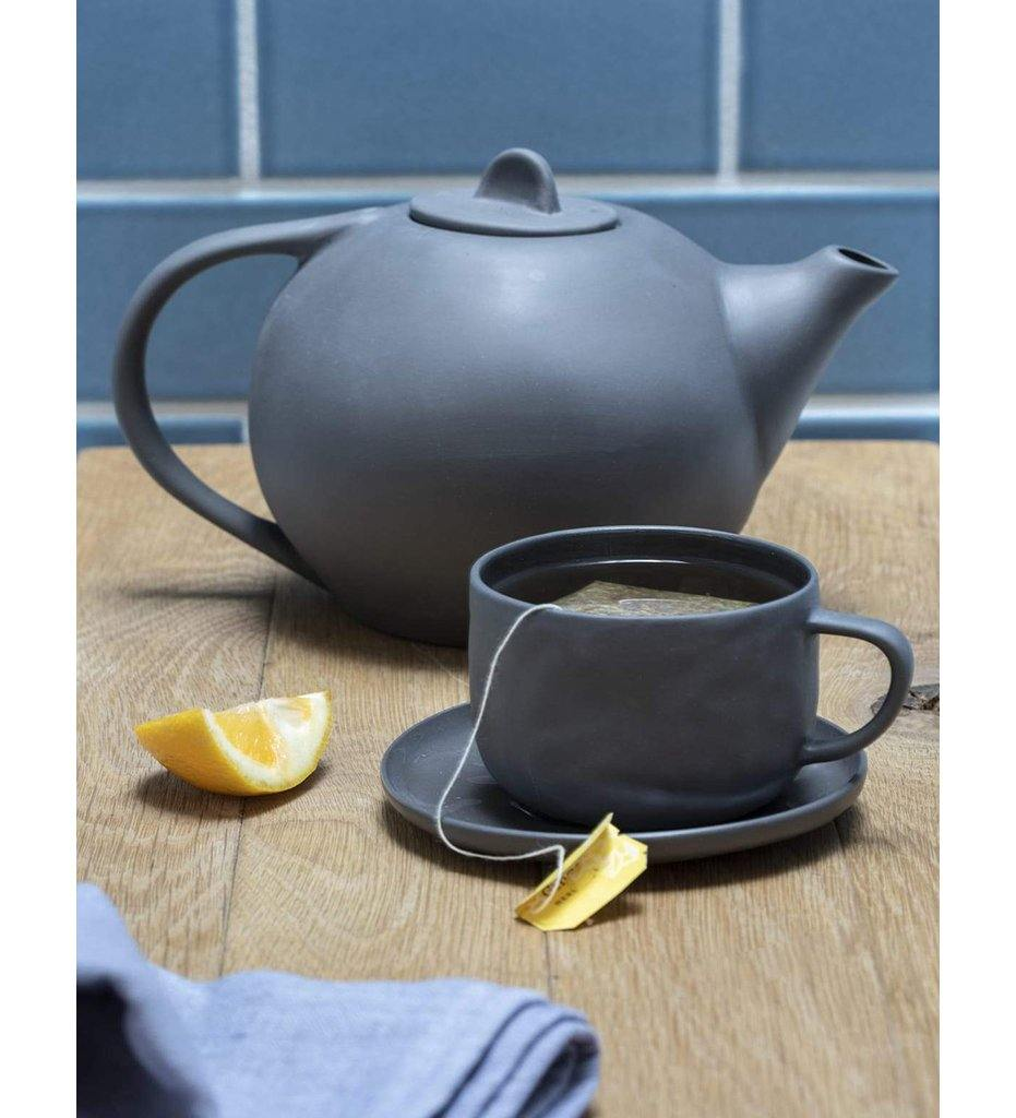 Be Home Stoneware Tea Pot - White