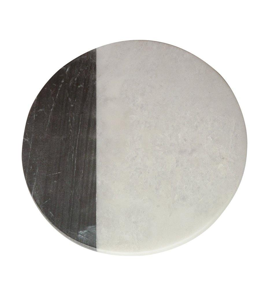 White & Gray Marble Round Board, Small