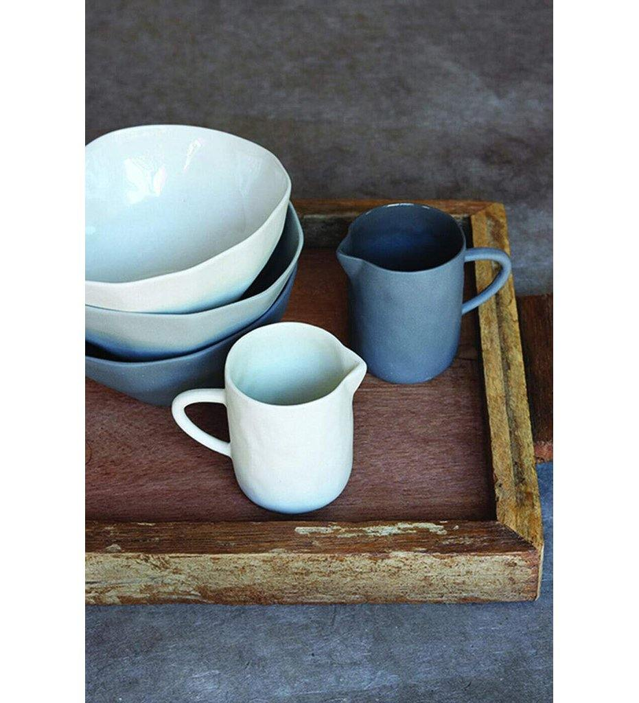 Be Home Stoneware Creamer White