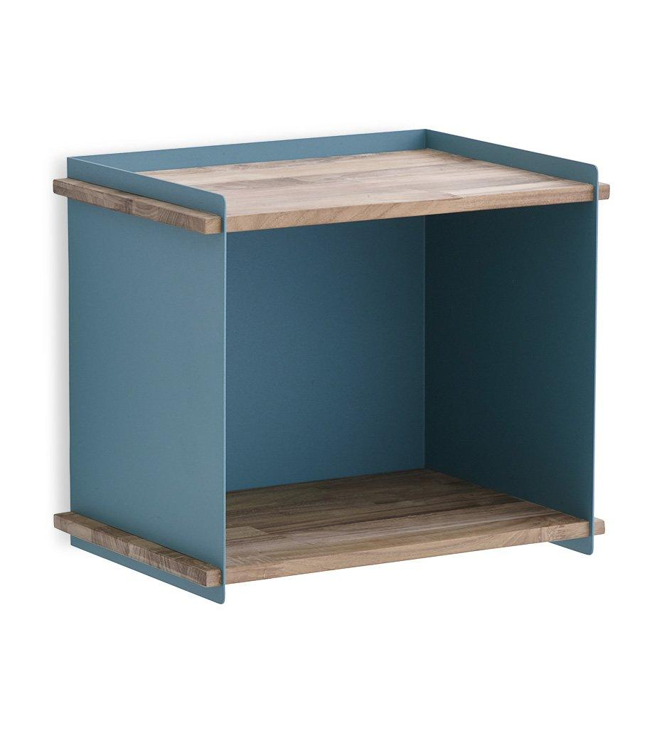 Cane-line Box Wall in Aqua Aluminum and Teak for Indoor or Outdoor 5770TAA