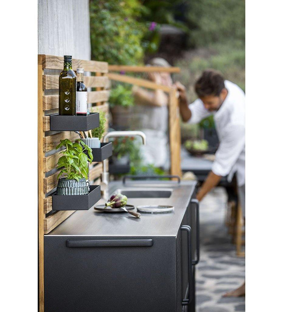lifestyle, Cane-line Drop Outdoor Kitchen 3550AL