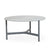Cane-line Twist Large Coffee Table in Light Grey Aluminum and Grey Fossil Ceramic Top 5012AI P90COG