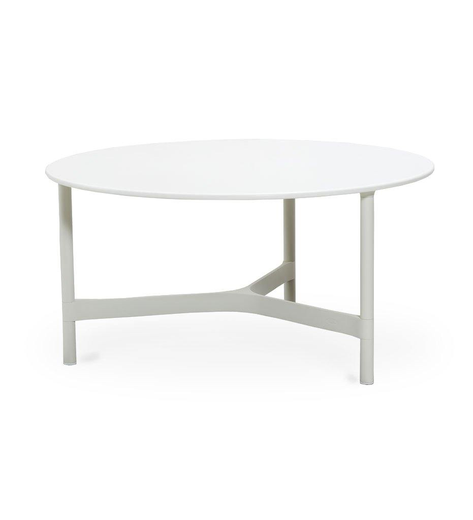 Cane-line Twist Large Coffee Table in White Aluminum and HI-Core Top 5012AW P90KW
