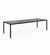 Cane-line Pure Large Outdoor Dining Table with Lava Grey Aluminum Base and Nero Black Ceramic Top 5086AL P280X100CN