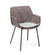 Cane-line Vibe Outdoor Dining Arm Chair in Light Grey, Bordeaux, and Dusty Rose All Weather Weave with Light Grey Cushion 5406AIIBRDR YSN96