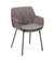 Cane-line Vibe Outdoor Dining Arm Chair in Light Grey, Bordeaux, and Dusty Rose All Weather Weave with Taupe Cushion 5406AIIBRDR YSN97