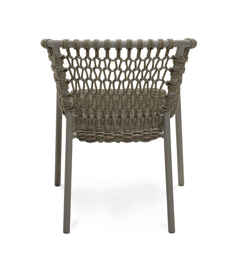 Cane-line Ocean Outdoor Dining Arm Chair with Taupe Rope Cushions 5417ROT