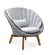 Cane-line Peacock Light Grey Rope Outdoor Lounge Chair with Teak Legs 5458ROLGT with Light Grey Cushions YSN96