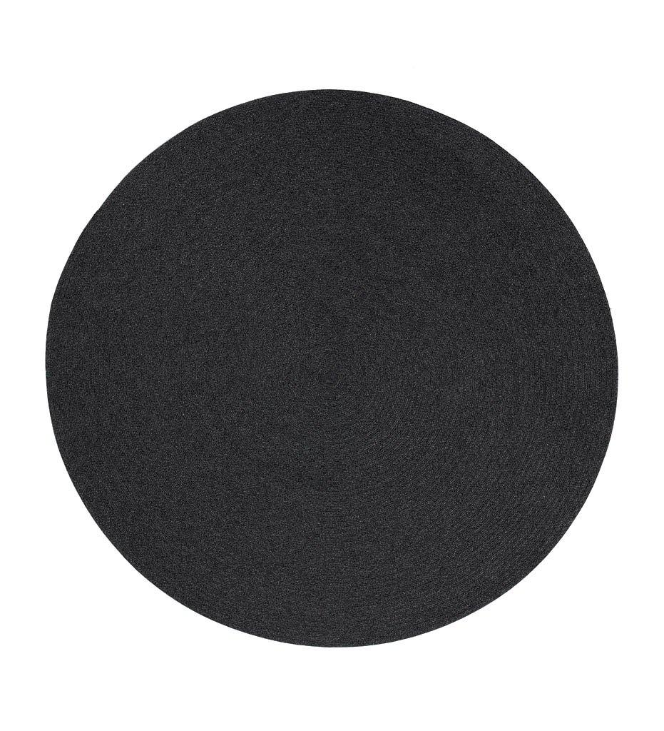 Cane-line Circle Outdoor Rug in Dark Grey SoftRope 74140RODG