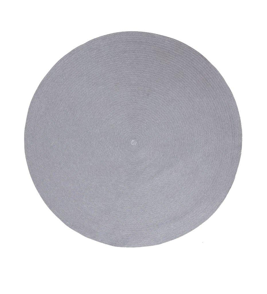 Cane-line Circle Outdoor Rug in Light Grey SoftRope 74140ROLG