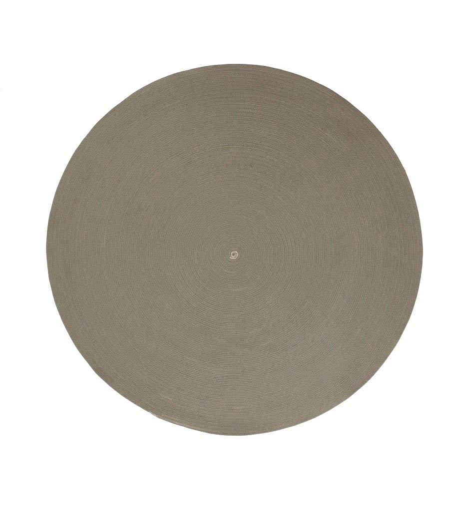 Cane-line Circle Outdoor Rug in Taupe SoftRope 74140ROT